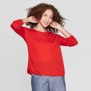 NWT A New Day Red Crew Neck Sweater